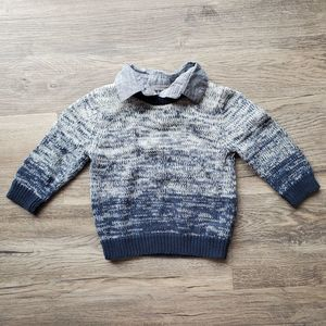 !3for$20! Genuine Kids boys collared sweater 18m